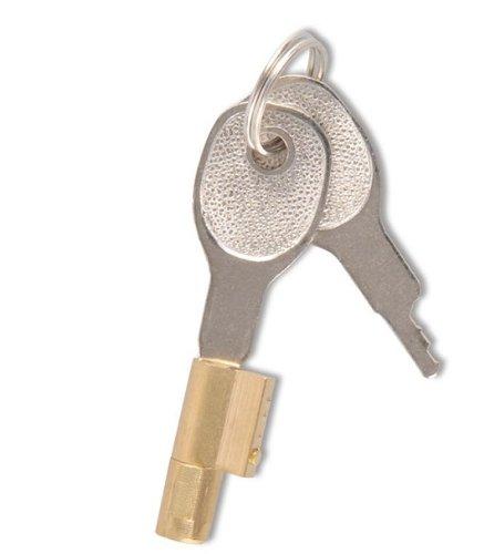 Serrure Barillet Antivol pour tete tête d'attelage avec 2 clés