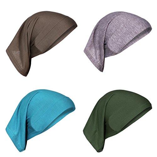 potente para casa HIKONG, 4 piezas, gorra, pañuelo, turbante, cabeza de mujer para tratamiento oncológico, quimioterapia, quimioterapia…