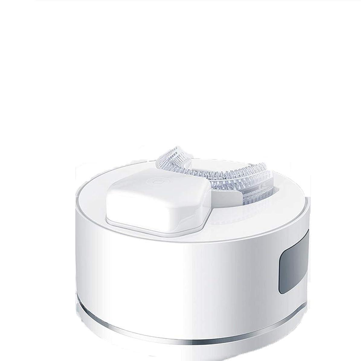 状況もし著名なWen Ying 大人の自動U型電動歯ブラシインテリジェント超音波ブレースタイプ電動歯ブラシヘッド柔らかい髪 電動歯ブラシ
