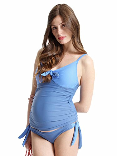 Petit Amour Umstands-Tankini Set AMY ❤️ Cup B/C/D blue Bademode ☀️ (L (Cup B/C/D), blue)