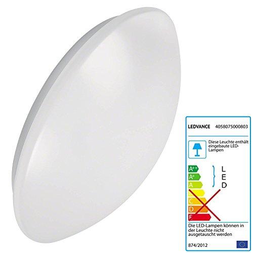 OSRAM LEDVANCE Survace Circular 400 Luminaire ovale à LED de 24 W, blanc, pour intérieur et extérieur, IP44, 40 cm 840 blanc neutre