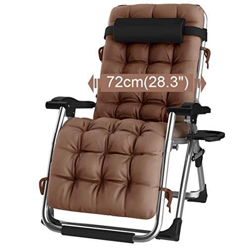 Huishoudelijke producten Ligstoelen Patio Lounge Fauteuils Stoel Buiten Zero Gravity Verstelbaar Opklapbaar Ligbed Ligstoelen met kussen voor strand