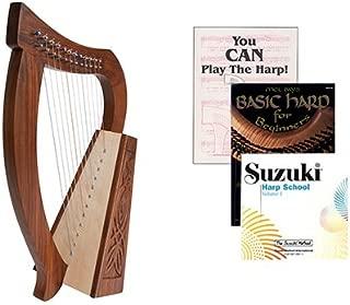 Homeschool Music Baby Harp w/Introduction to Harp Book Bundle + Suzuki Harp School CD, Volume 1