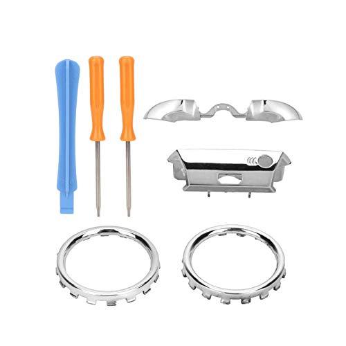 Mxzzand Kit de Anillos de Acento de Pulgar Exquisito Anillo de Repuesto 3D LB/RB galvanoplastia botón Colorido Duradero para(Silver Plating)
