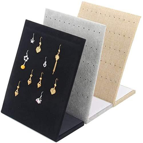 KEEBON 3 unids joyería Estante joyería Almacenamiento Estante de exhibición de la exhibición de la joyería 60 Agujero Pendientes Pendientes Pendientes Estante Pantalla de pie para Collares Pendientes