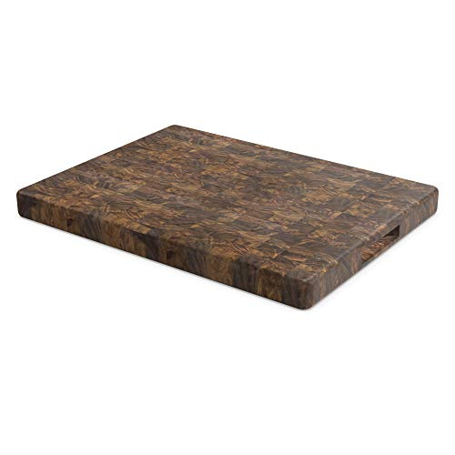 End Grain Chopping Block - Made in USA by Virginia Boys Kitchens - Sustainable Walnut hardwood - Wood Cutting Board - 20 x 15 x 1.5 inches