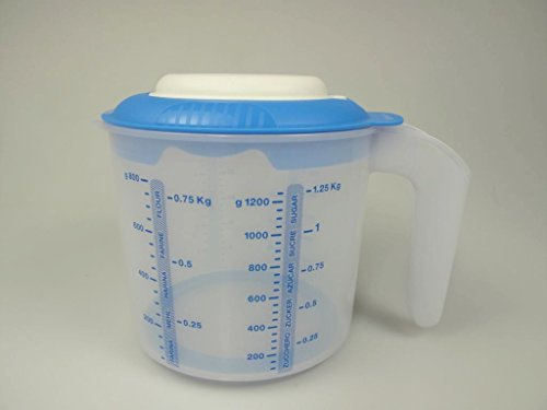 TUPPERWARE Backen Messbecher Candy Mini 1,2 L blau Rührbecher  Rühr-Mix 8757
