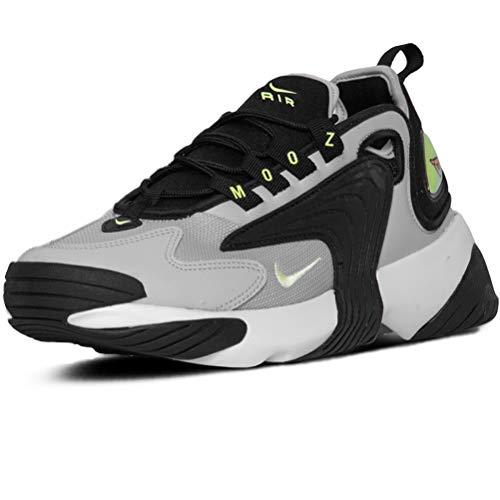 Nike Wmns Zoom 2k, Zapatilla de Correr Mujer, Negro Apenas Volt Gris Niebla Blanco, 44 EU