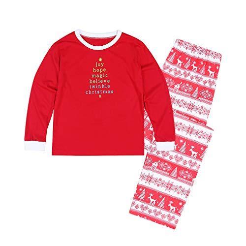 MEIHAOWEI Nueva Familia Ropa a Juego Pijamas para Niños Ropa Navidad Familia Ropa Mamá y yo Look Familia MOM-Red M