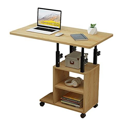 Rolling Laptop Bordsbord Bord Bärbar Dator Bärbar Dator Soffa Soffa Sida Bedside Hem Läsning Frukost 80x40cm Varvstående skrivbord