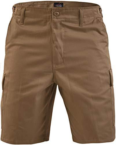 normani Kurze Bermuda Shorts US Army Ranger Feldhose Arbeitshose S - XXXL Farbe Coyote Größe L