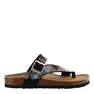 Skechers Women's, Relaxed Fit Granola Bling Blang Sandals Black Multi 9 M