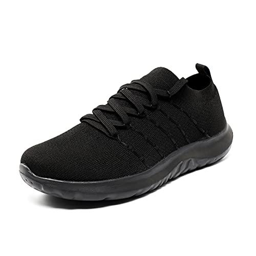 Zapatillas Running Mujer Deportivas Casual Tenis Sneakers Antideslizantes Fitness Transpirables Caminar Zapatos para Correr Negras 37 EU
