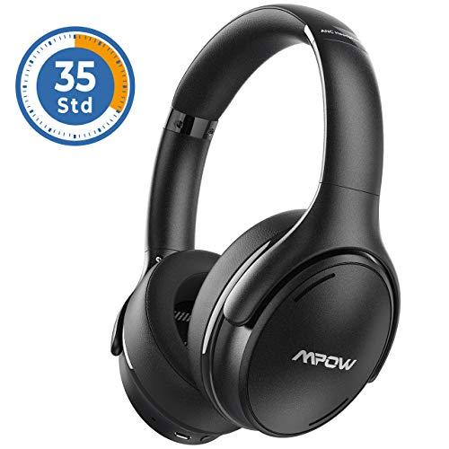 Noise Cancelling Kopfhörer, Mpow H19 IPO Bluetooth 5.0 Kabellos Kopfhörer Over Ear mit 35 Std, Schnellladen Mikrofon CVC 8.0, HiFi & Weiche Ohrenschützer, Faltbar ANC Kopfhörer für Mobiltelefone/TV