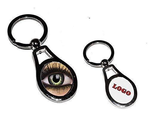 - ohne Marke / Generic - Schlüsselhaken Oval in Metall Anpassbare Druck Personalisierte Foto Nome Bild Logo Wappen