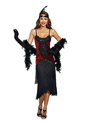 Dreamgirl Women's 11102, Red/Black, S