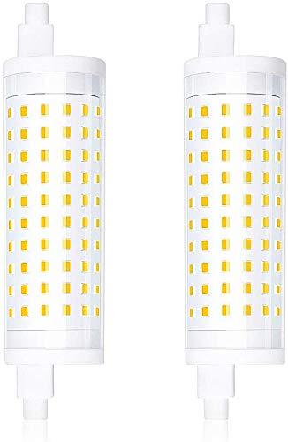 Bonlux 2-PCS Dimmable 15W R7S 118mm Ampoule LED Lampe Linéaire J118 T3 220V 360 Degrés 1500 Lumen équivalent 150W Ampoule Halogène Blanc Chaud 3000K pour Jardin, Couloir, Lampadaire, projecteur