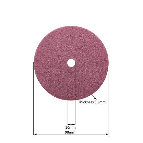 Rtengtunn Afilador de Motosierra eléctrica Muela de Diamante 98/105/145 mm Espesor 3,2/4,5 mm Borde de Corte y Pulido Dientes de Sierra de Cadena - 98X10X3.2mm