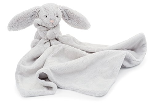 Product Image of the Jellycat Bashful Grey Bunny Baby Stuffed Animal Security Blanket