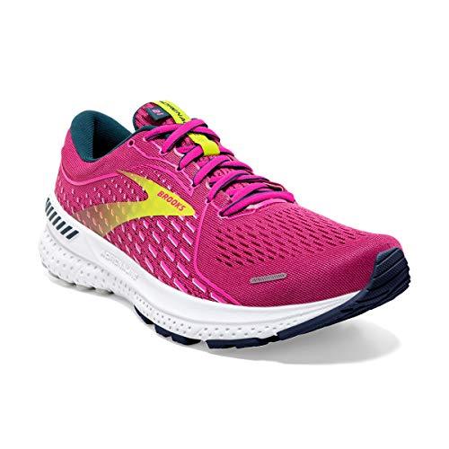 Brooks Women's Adrenaline GTS 21 Running Shoe - Raspberry/Pink/Sulphur - 9.5