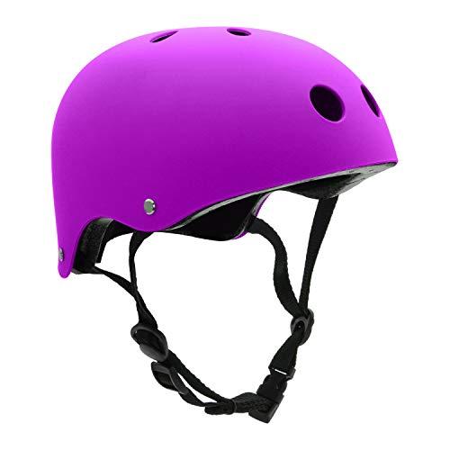 Buy Discount FerDIM Skateboard Helmet Kids Youth Adult, Bike Helmet CPSC Certified for Skate Scooter...