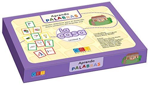 Aprendo palabras. Unidad 8: En casa / Editorial GEU/ Diseñado para maestros E.Infantil / Enseña vocabulario básico / Trabajo léxico-semántico