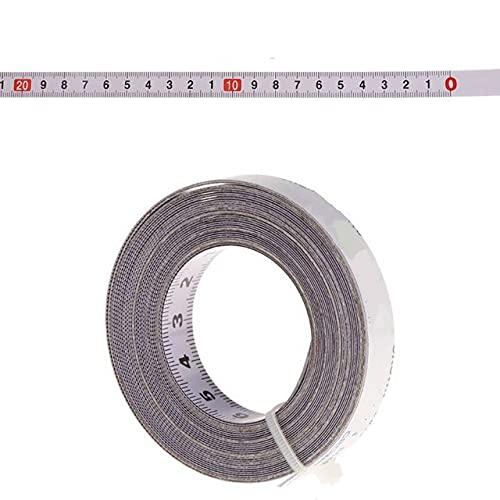 1 Uds 1/2/3 / 5m Cinta métrica autoadhesiva para Sierra de inglete con Respaldo métrico Regla de Acero Cinta métrica Herramientas de medición de medición - 3 m, de Izquierda a Derecha