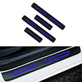 para XC40 V90 XC60 XC70 XC90 XC Decoración Pegatina para Estribos,Protección de Pedal de umbral,Faldones Laterales Fibra de Carbono,Evitar el Desgaste 4Pieza Azul