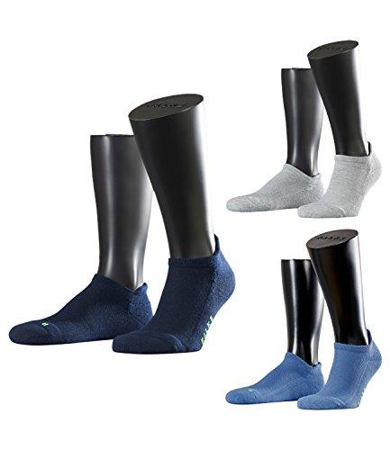 FALKE Unisex Sneaker Laufsocken Sportsocken Cool Kick 16609 3 Paar, Farbe:Mehrfarbig, Größe:44-45, Artikel:-3400/-6120/-6318 mix