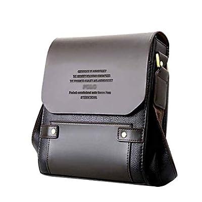 Mioy Élégant Sac à Bandoulière en Cuir Pour Homme Sacoche Petit Sac à Épaule Retro Sac de Messager Mini Business Sac à main