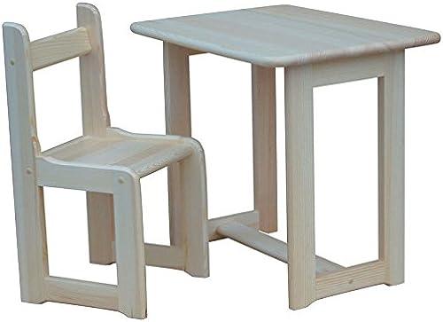 koma Kinder Sitzgruppe Kindertisch Kinderstuhl Massiv Kiefer Holz Neu (Kiefer LACKIERT)