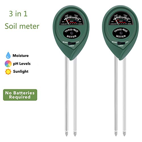 Buy BROTIZER 3 in 1 Soil Tester Kits with Moisture, Light and pH Test, for Soil Monitor in Lawn, Far...