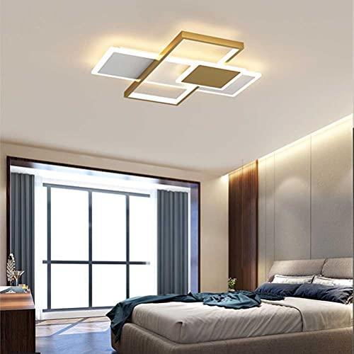 Lámpara de techo LED, regulable, para dormitorio, salón, lámpara de techo cuadrada, acrílico, con mando a distancia, lámpara de techo, baño, cocina, oficina, balcón, decoración, lámpara colgante
