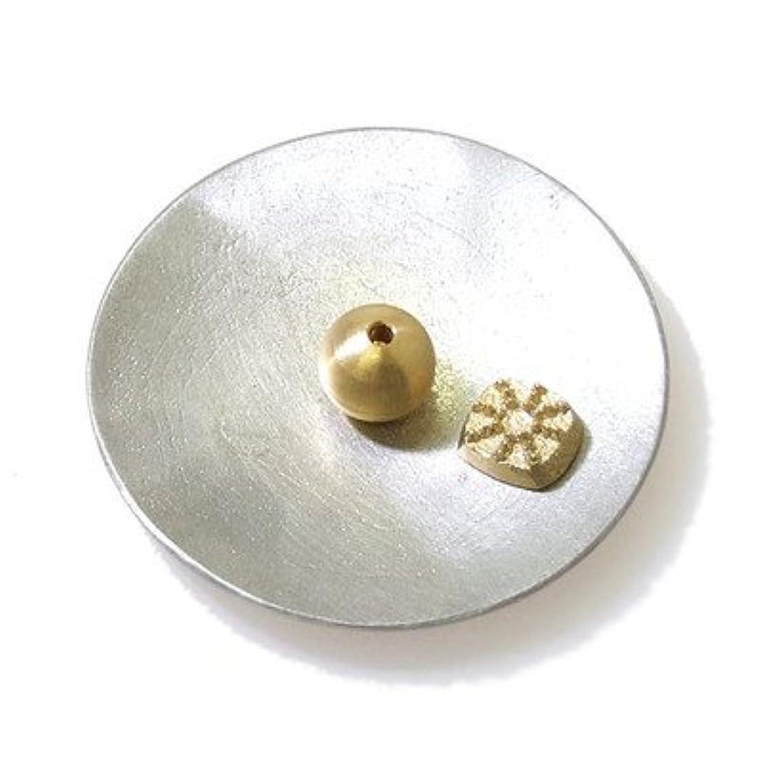 ふざけた適応的ビスケット能作 (のうさく) 香の器セット-丸- 錫