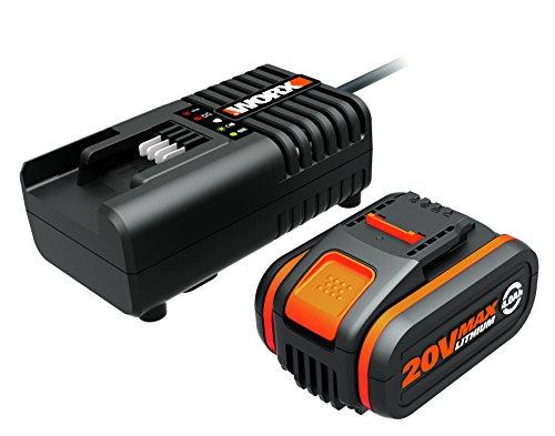 WORX WA3604 Akku mit Akku Ladestation: 20V – 4000mAh Li-Ion Akkubatterie & Akku Ladestation