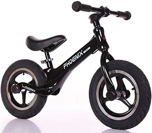 Bicicleta de Balance de la aleación de magnesio, 12 Pulgadas sin Pedal, Asiento Ajustable para Bicicletas, Bicicleta de Entrenamiento Deportivo Ligero para niños de 2 a 6 años de Edad