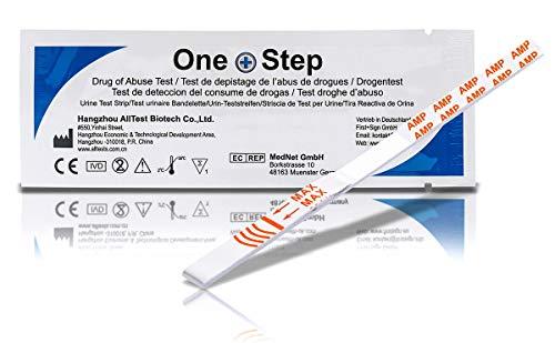 5 x One+Step Drogenschnelltest I Urintestreifen I Drogentest I Schnelltest zur Bestimmung von Amphetamin
