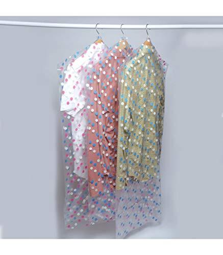 Beschermhoes voor kleding, mottenbescherming, gestippeld, 10 stuks