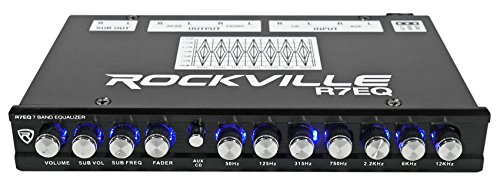Rockville R7EQ 1/2 Din 7 Band Ca...
