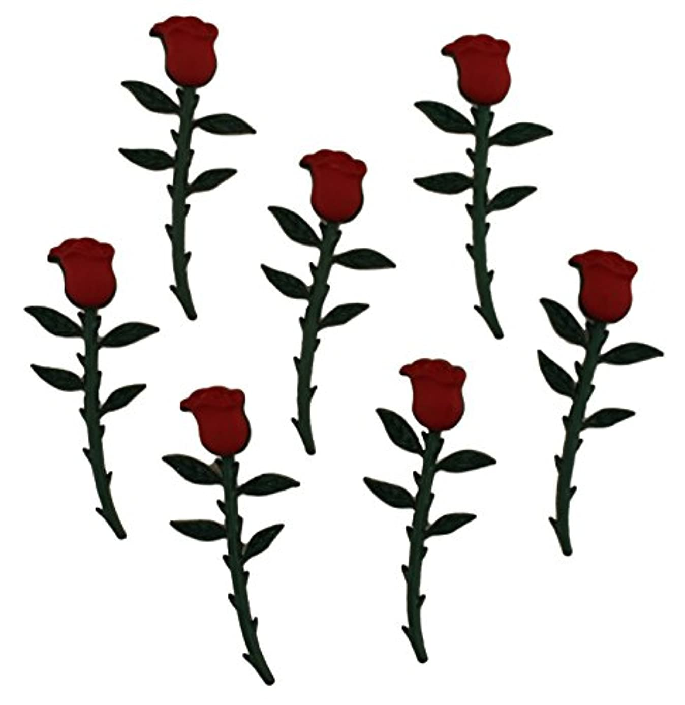 Buttons Galore BUTTON THEME PACK - LONG STEM ROSES