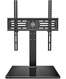 FITUEYES Soporte TV de 26 a 55 Pulgadas hasta 40 kg Giratorio 60 Grados Altura Ajustable Soporte de Mesa para TV Plana Curva LCD LED OLED Plasma