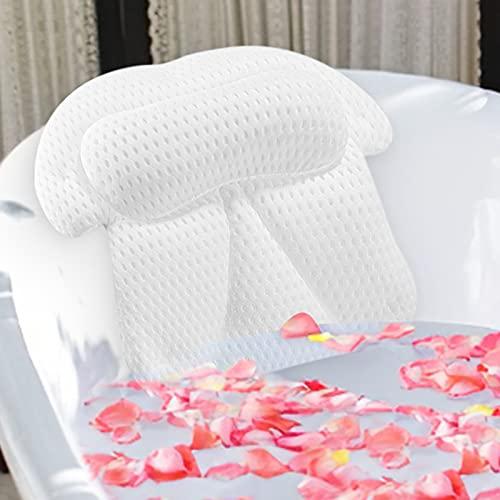 VICSAINTECK Almohada Bañera, Almohadas de Baño Antideslizante Accesorios de Baño
