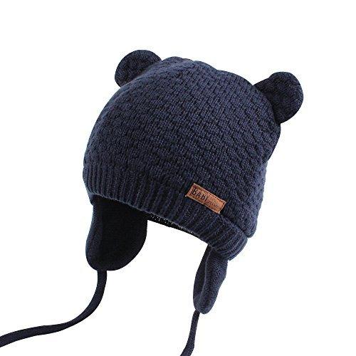 6b50e2e91fd XIAOHAWANG Baby Hat Cute Bear Toddler Earflap Beanie Warm for Fall Winter