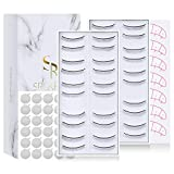 20 Pairs Practice Lashes for Training Lash Extensions, Self Adhesive Eyelash Practice Strip for Beginner Teaching Lashes Extension Supplies Perfect Use with Eyelash Mannequin Head 2-Pack by SRCKFIZ