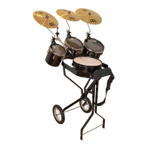 Schlagzeugwagen mit Snare, 3 Toms, Hi-Hat Halterung, 3 Becken