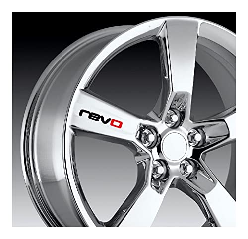 AWQC Etiquetas engomadas de Las Rayas de Las Llantas 4pcs Revo Coche Pegatina de Ruedas Compatible con Revo Volkswagen Golf 7 Passat B5 B6 B7 Golf MK4 MK6 MK7 CC R20 R32 R36 PVC (Color Name : Black)