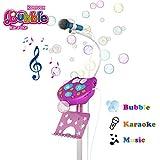 Karaoke Microfono Infantil con Maquina Burbujas para Niños, Cumpleaños Navidad Regalos Niñas 3 4...