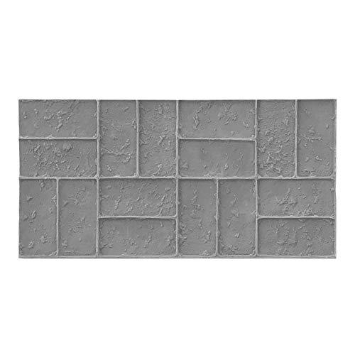 Worn Brick Basketweave Concrete Stamp Single by Walttools | Classic Woven Paver Pattern, Sturdy Polyurethane Texturing Mat, Decorative Realistic Detail (Floppy)