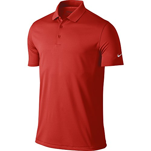 NIKE Men's Dry Victory Polo, University Red/White, Large