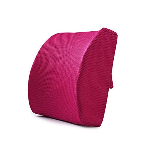 Wenzhihua Back Cushion Soft Memory Foam Slow Recovery Lumbar Support Back Massager Waist Cushion Pillow For Chairs in the Car Lumbar Cushion Back Friend (Color : 3, Size : One size)